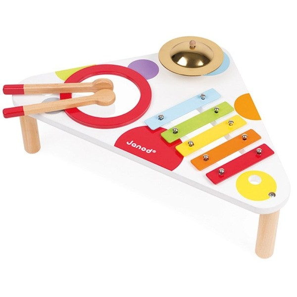 spieltisch mit musikinstrumente janod baby. Black Bedroom Furniture Sets. Home Design Ideas