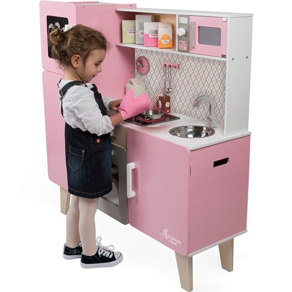 Maxi k che macaron mit funktionen janod baby for Cuisine janod macaron