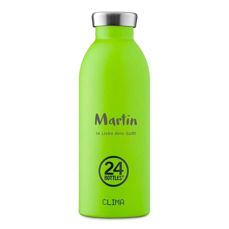 Thermosflasche 0,5L zu personnalisieren, Clima 24 Bottles, Lime Green