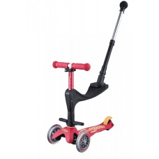 Scooter mit Push Bar Mini Micro 3in1 Deluxe Plus, Ruby Red, Gratis Versand, Online Shop Schweiz