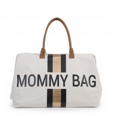 Wickeltasche Mommy Bag Stripes Black/Gold Childhome, Geschenkidee Mutter
