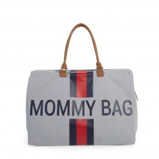 Wickeltasche Mommy Bag Grau Stripes  Childhome, Geschenkidee Mutter