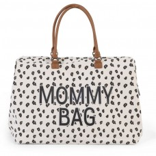 Wickeltasche XXL Mommy Bag mit Leopardenmuster Childhome, Geschenkidee Mutter