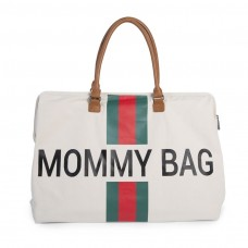 Wickeltasche Mommy Bag Stripes Grün/Rot Childhome, Geschenkidee Mutter