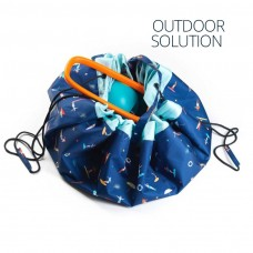 Spielsack Outdoor Surf mit Kinder am Strand Play & Go, blau