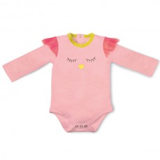 Baby Body 6 M. Eule rosa