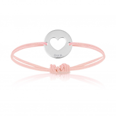 Baby Armband Silber mit Herz, pink, Armband zu personalisieren, Aaina & Co