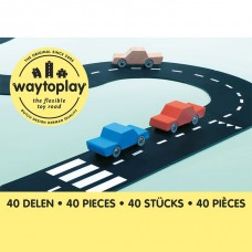 Flexible, langlebige King of the Road 40-teilige Set, Way to Play, Gratis Lieferung