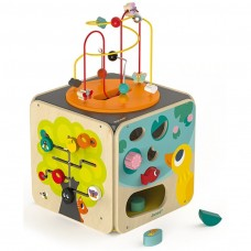 Maxi Activity Looping mit 8 Funktionen Spielzeug aus Holz ab 18 Monate, Janod