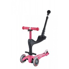 Scooter mit Push Bar Mini Micro 3in1 Deluxe Plus, pink, Gratis Versand, Online Shop Schweiz