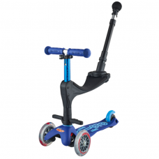 Scooter mit Push Bar Mini Micro 3in1 Deluxe Plus, Blau, Gratis Versand, Schweizer Online Shop