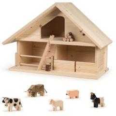 Stall roh Trauffer, Holzspielwaren 100% Schweiz, Geschenkidee, Gratis Versand