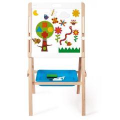 Standtafel & Whiteboard für Kinder mit Magnete und Papierrolle, Scratch