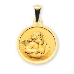 Schutzengel Anhänger Gold 750 mit Gravur, Gratis Versand in die Schweiz