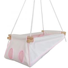 Baby Hängematte Bio Pink, Hängewiege, Öko-Tex Standard 100, Gratis Versand überall in die Schweiz