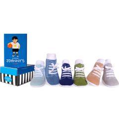 Sinnvolles Geschenk zur Geburt, Baby Socken Junge 0-12 Monate, Trumpette Johnny Everyday