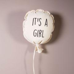 It's A Girl Ballon Baby Zimmer Dekoration, 100% Baumwolle Childhome