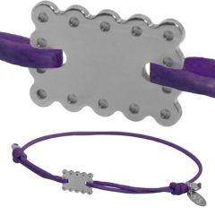 """Silber Baby & Kinder Armband, Mini Keks """"Petit Beurre"""", violett"""