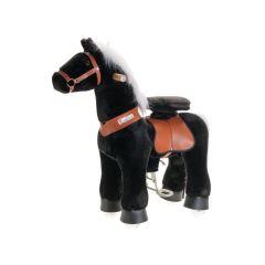 Ponycycle schwarz mit weisser Mähne, Pferd für Kinder von 3-5 Jahren mit 2 Jahr Garantie