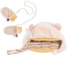 Mütze mit Fäustlingen Les Papoums