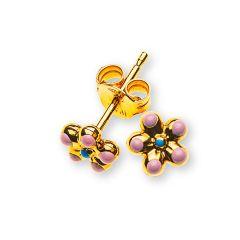 Blume Halskette mit Anhänger, Gold 375, Baby und Kinder Schmuck, Gratis Versand in die Schweiz