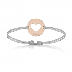 Baby Armband mit Herz 18k Rotgold beschichtet, Armband zu personalisieren, Aaina & Co