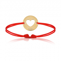 Baby Armband mit Herz 18k Gelbgold beschichtet, Armband zu personalisieren, Aaina & Co