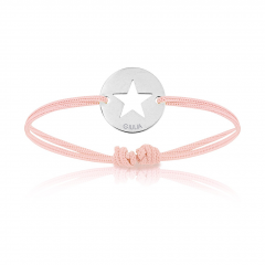 Baby Armband Silber mit Stern, pink, Armband zu personalisieren, Aaina & Co