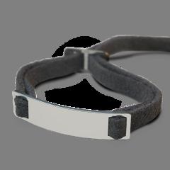 Baby Armband Silber 925 aus Wildleder Schwarz,  Mikado