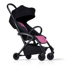 Kinderwagen Bumprider mit Gratis Wickeltasche, Buggy für Mädchen schwarz und pink, Gratis Versand