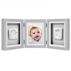 Baby 3D Abdruckset Tisch Bilderrahmen grau Pearhead