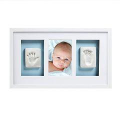 Baby 3D Abdruckset Bilderrahmen weiss Pearhead
