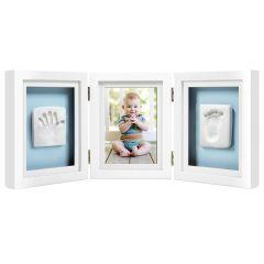 Baby 3D Abdruckset Tisch Bilderrahmen weiss Pearhead