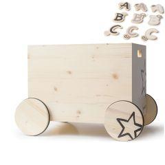 100% Schweizer Spielzeugkiste, zu personalisieren mit Buchtaben, Gratis Versand, Kynee Schweiz