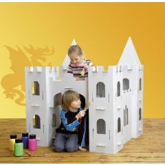 Schloss XXL aus Karton zum bauen und bemalen Calacastle