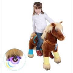 Caramel Premium Modell mit Zubehör, Ponycycle Medium mit Rollen für Junge und Mädchen von 4 bis 9 Jahre