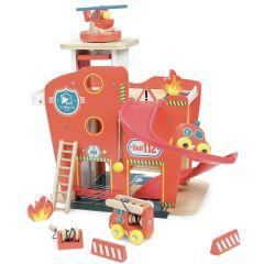 Feuerwehrstation Holzspielzeug 3+ Vilacity, Vilac