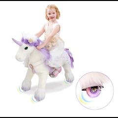 Einhorn Cassidy Premium Modell mit Zubehör, Ponycycle Medium mit Rollen für Mädchen