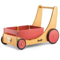 Steiff Spielzeugkiste und Lauflernhilfe aus Holz, Cargo Walker ab 10 Monate, Gratis Versand