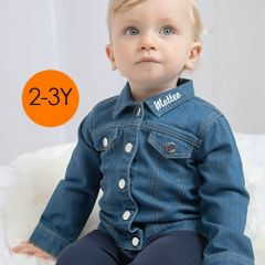Denim Baby Hemd, zu personnalisieren 12- 18 Monate