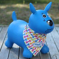 Baby und Kinder Hüpftier Hund, blau Ludi