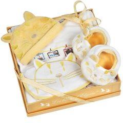 Geschenkset Baby Pyjama Katze Aprikose 3 Monate, Les Bébés d'Elizéa