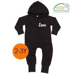 Ökotex All-in-One zu personalisieren für Kinder 2-3 Jahre alt, schwarz