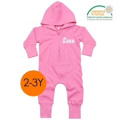Ökotex All-in-One zu personalisieren für Kinder 2-3 Jahre alt, pink