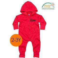 Ökotex All-in-One zu personalisieren für Kinder 2-3 Jahre alt, rot