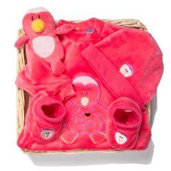 Neugeborenen Baby Geschenkkorb Pink Penguin, Les Bébés d'Elizéa