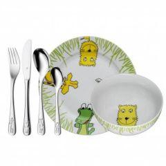 Kinderbesteck-Set 6-teilig Safari Geschenkidee Personalisiert WMF