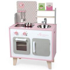 Küche Macaron Gross, für Mädchen von 3 bis 8 Jahre Janod, Gratis Versand