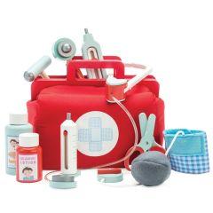 Arztkoffer 10 Teile Zubehör Holzspielzeug ab 3 Jahre alt, Le Toy Van