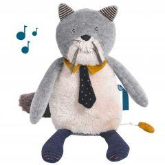 Plüschtier Katze mit Musik zum einschlafen Spieluhr Einschlafhilfe Moulin Roty